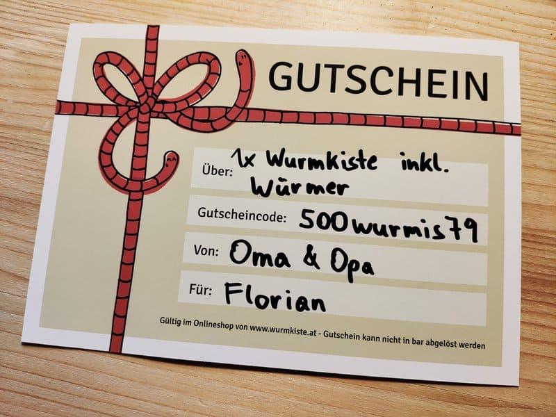 Geburtstagsgeschenk Gutschein
